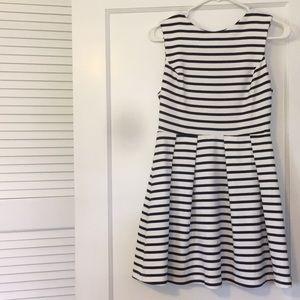 Navy and White Striped Minidress